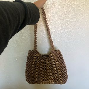UO WOODEN BEAD PURSE